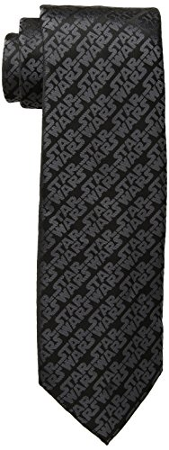 Star Wars Episodio 4 - Corbata con logotipo de Star Wars para hombre, Negro, Talla única