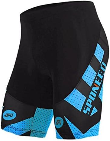 sponeed mallas de ciclismo para hombre pantalones cortos pantalones de bicicleta 4d Gel Acolchado bici pantalones cortos