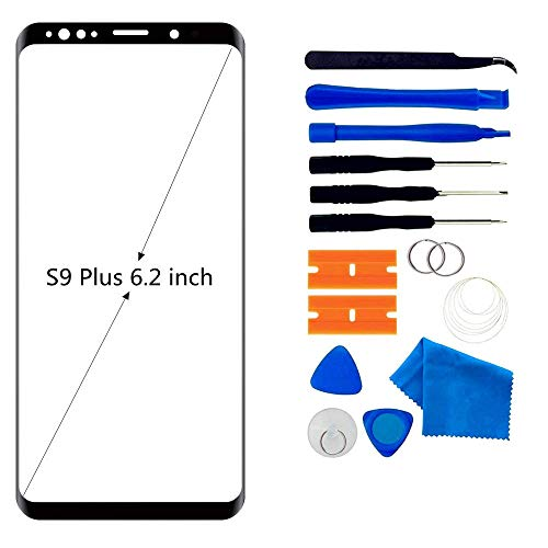 - Original Compatible 6.2 inch Samsung Galaxy S9 Plus Front Outer Touch Screen Glass Lens Replacement, Screen Lens Glass Repair Tool Kits SM-G965(Galaxy S9 6.2 inch Black)