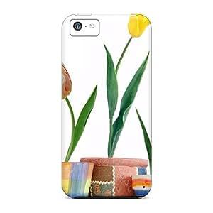 Brand New 5c Defender Cases For Iphone (tulip Flowers 04)