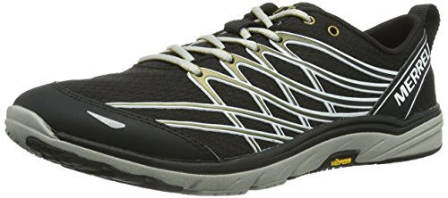 Merrell Bare Access 3 Mens Running Sneakers / Shoes - Black-BLACK-11