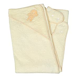 Clevamama Splash and Wrap Baby Bath Towel (Hood, Cream)