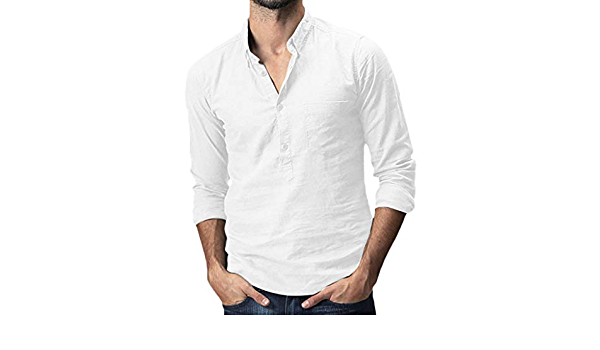 Seringling Camiseta Manga Larga Hombre Casual Moda ...