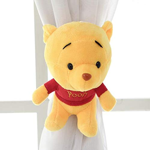 (CHUANG^LIAN Curtain Clip Lace Flower Curtain Strap Hooks Curtain Buckles Tie Straps Tying A Pair of European Curtain Clips, Yellow, Winnie The Pooh)