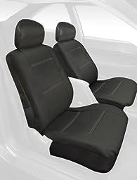 Saddleman Front Bench/Backrest Custom Made Seat Cover - Leatherette Fabric (Black)