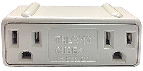 Farm Innovators Farm (Farm Innovators TC-3 Cold Weather Thermo Cube Thermostatically Controlled Outlet - On at 35-Degrees/Off at 45-Degrees)