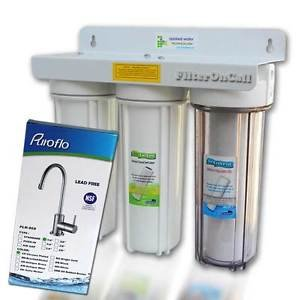 Under Sink 3 Stage Water Filter System all Lead Free NSF Component US Built 1C2W