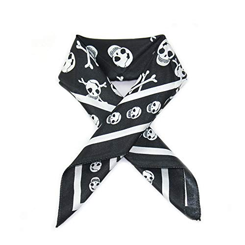 Scarf for Girls, Women Print Winter Convertible Infinity Scarf Pocket Loop Zipper Pocket Scarves (White)