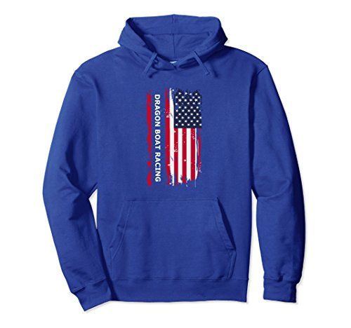 Usa Dragon Boat - Unisex Dragon Boat Racing USA Patriotic Hoodie Gift Tee Small Royal Blue