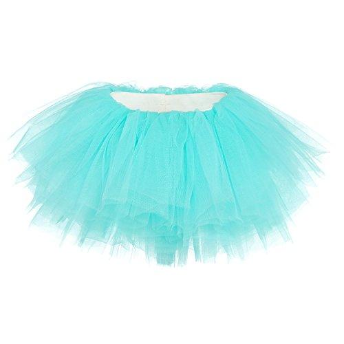 My Lello Baby Tutu Short Ballet Skirt 10-Layer (Newborn - 3mo.) Aqua -