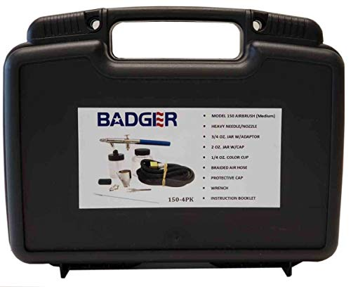 Badger Air-Brush Co 150-4-PK Professional Airbrush Set in Sturdy Plastic Tool Box