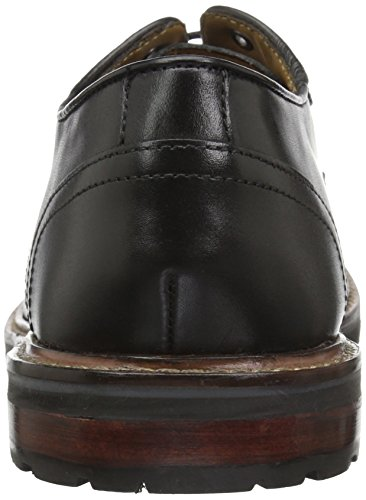 Florsheim Mens Estabrook Vlakte Teen Lace Up Oxford Jurk Toevallige Schoen Zwart