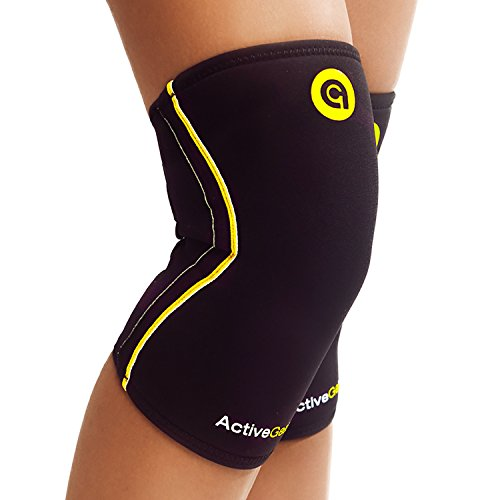 Extra Heavy Black Liner - ActiveGear Knee Brace Support Heavy Duty Neoprene Sport Compression Sleeve (Medium)