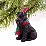1 X Schnauzer Miniature Dog Ornament - Uncropped - Black by Conversation Concepts