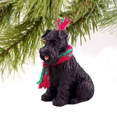 Conversation Concepts 1 X Schnauzer Miniature Dog Ornament - Uncropped - Black