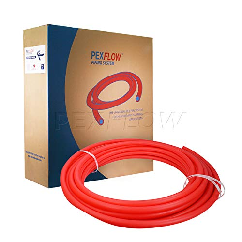 Pexflow PFR-R1100 Oxygen Barrier PEX Tubing for Hydronic Radiant Floor Heating Systems, 1 Inch x 100 Feet, Red by PEXFLOW (Image #4)