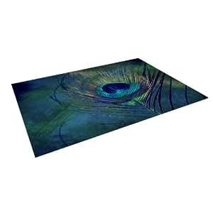 "Kess InHouse Robin Dickinson ""Plume"" Indoor/Outdoor Floor Mat, 5-Feet by 7-Feet"