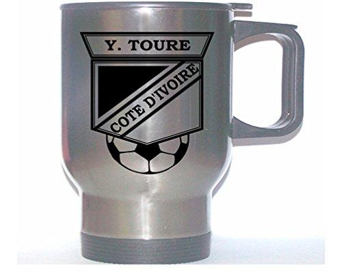 Yaya Toure (Cote D'Ivoire/Ivory Coast) Soccer Stainless Steel Mug (Cote Divoire Mug)