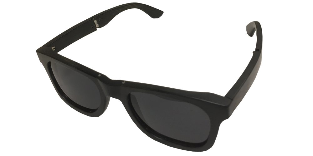 Amazon.com: Ebony Bamboo Wood Folding Sunglasses with Black Polarized  Lenses: Sports & Outdoors