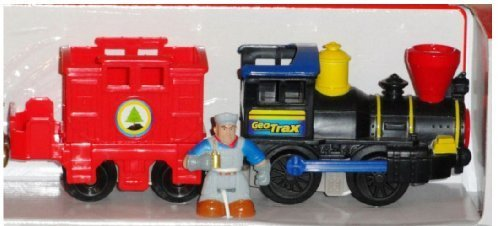 - Fisher-Price GeoTrax Push-Along Timbertown Railway Track and Train with BONUS Exclusive Lights and Sounds Vehicle with Goldstein and Grant & DVD!