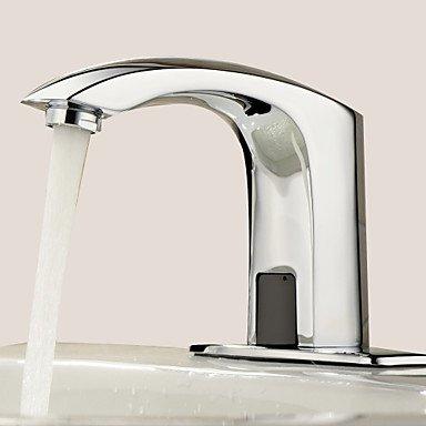 GFFXIXI Waschbecken Wasserhahn - Berühren Berührungslos Chrom Mittellage EIN Loch Hände Frei EIN Loch