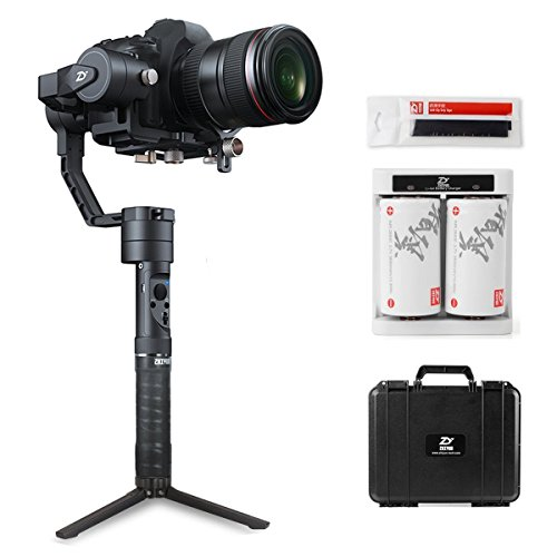 Zhiyun Crane Plus (Latest)   3-Axis Gimbal Stabilizer for DSLR & Mirrorless Cameras with Motion Memory, POV, Night Time-Lapse, 5.5 lbs Payload, Object-Tracking, 1-Year Warranty