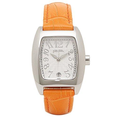 [フォリフォリ]Folli Follie レディース S922 Orange 24ミリ オレンジ レザー シルバーケース ホワイト文字盤 White/Orange 腕時計 [並行輸入品] B072NZYN3M
