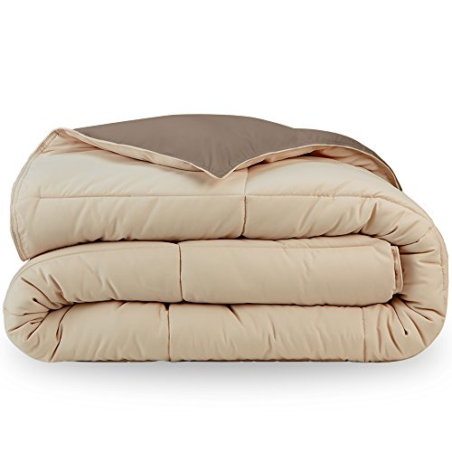 Bare residential Ultra-Soft Premium 1600 Series Goose downwards replacement reversible Comforter - Hypoallergenic - All Season - Plush Fiberfill (King/Cal King, Taupe/Sand)