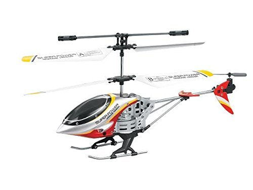 Dazzling Toys Remote Controlled Helicopter - For Indoor or Outdoor - 3.5 Channels for Accurate Flying - Alloy Design -Great Gift for Kids Color Red