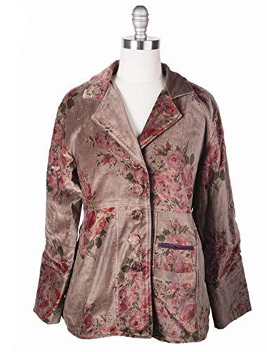 Victorian Trading Co Hopeless Romantic Watercolor Rose Velvet Jacket XL