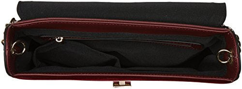 Dorothy Perkins Velvet Cross Body - Borse a tracolla Donna, Red, 26x19.5x7 cm (W x H L)