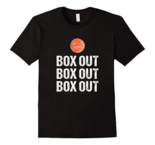 Mens Funny Basketball Coach Tshirt Box Out Quote Grunge Graphic XL Black