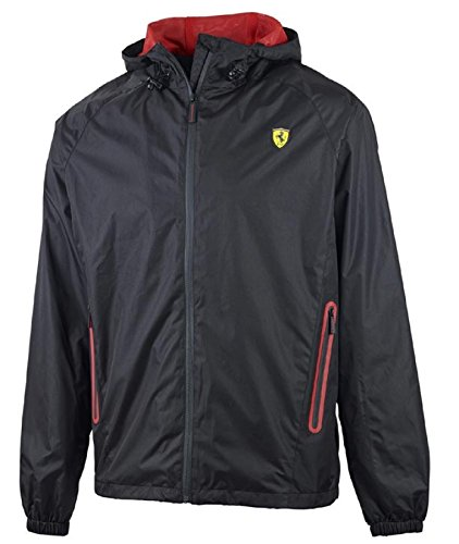 Ferrari Black Shield Windbreaker Jacket - Ferrari Men Jacket