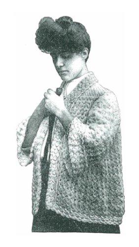 #1174 RIKO KIMONO VINTAGE CROCHET PATTERN (Single Patterns)