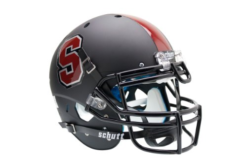 NCAA Stanford Cardinal Authentic XP Football Helmet, Matte/Black by Schutt