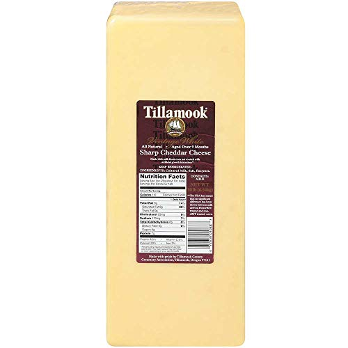 (Tillamook Vintage White Sharp Cheddar Cheese, 10 Pound -- 1 each.)