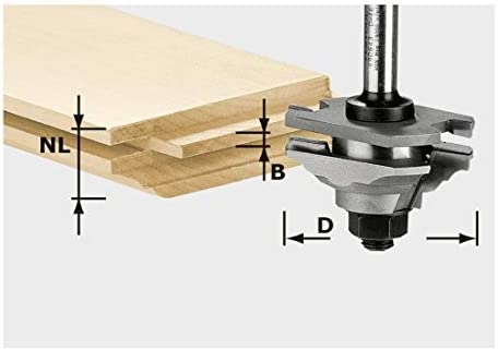 Festool 490643–männlich und weiblich-Profile Erdbeere und HW HW S8Stange 8mm x D12d46-fd