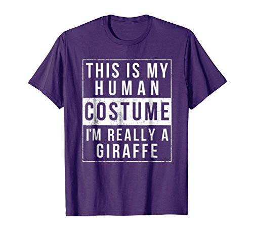 Mens Giraffe Halloween Costume Shirt Funny Easy for Kids Adults Medium Purple for $<!--$15.99-->