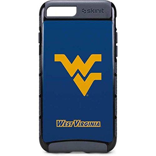 - Skinit West Virginia University iPhone 8 Plus Cargo Case - West Virginia Blue Background Design - Durable Double Layer Phone Cover