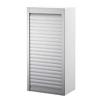 Rolladenschrank küche  IKEA AVSIKT -Rollschrank weiß Aluminium - 40x121 cm: Amazon.de ...