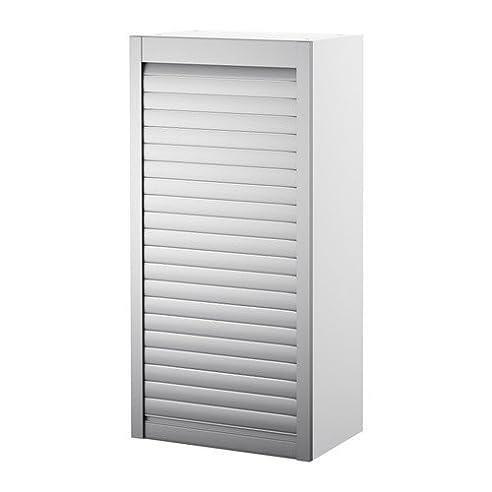 Jalousieschrank ikea  IKEA AVSIKT -Rollschrank weiß Aluminium - 40x121 cm: Amazon.de ...