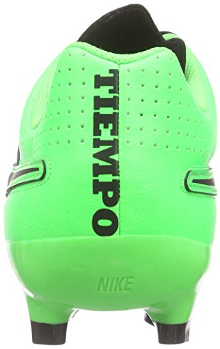 Nike Tiempo Genio Leather FG - Botas de fútbol Hombre Negro / Verde (Black / Black-Grn Strk-Grn Strk)