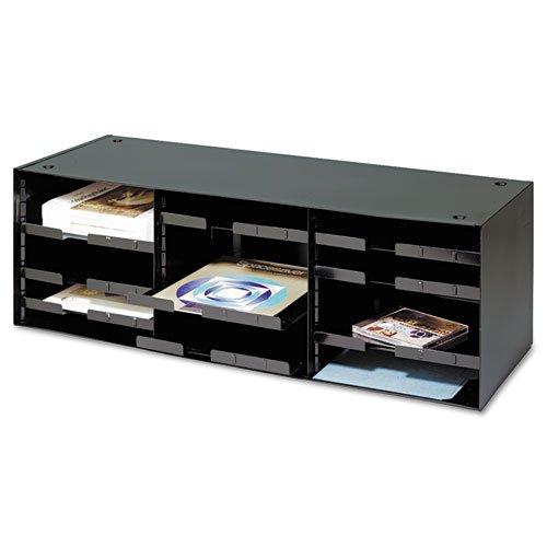 Steelmaster Literature Sorter, 12 Sections, 33 1/2 x 12 x 10 3/8, Black