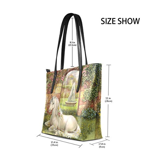 Bag Purse Tote Leather Relaxed In Shoulder LIANCHENYI Gardern Womens Unicorn PU f6xqAw1
