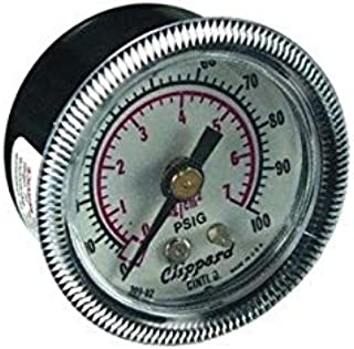 """product image for Clippard PG-100 Pressure Gauge, Panel Mount, 1/8"""" NPT, 0 to 100 psig"""