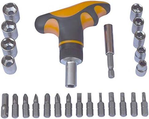 T Handle Bar Socket Wrench Star Hex Cr-V Flathead Torx Ratchet Screwdriver Set Pozi drive selection Magnetic Screw Driver Bits Phillips