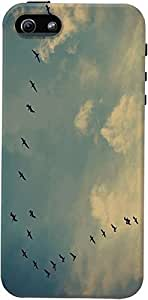 DailyObjects Birds in the Sky Case For Iphone 5/5S Cover Blue