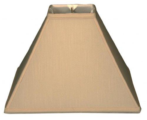 Royal Designs Square Sharp Corner Basic Lamp Shade, Beige, 6 x 16 x - Beige Square Lamp Floor