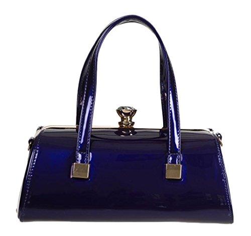 Banned Apparel Emily VINTAGE 50s Retro Bolso de mano Azul Marino