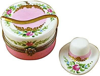 Caja de Flores para Sombreros con Sombrero, Cajas de Limoges franceses, Figuras de Porcelana, Regalos coleccionables: Amazon.es: Hogar